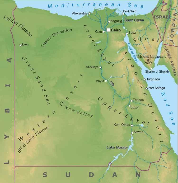 Western Desert Our Egypt - Map of egypt eastern desert