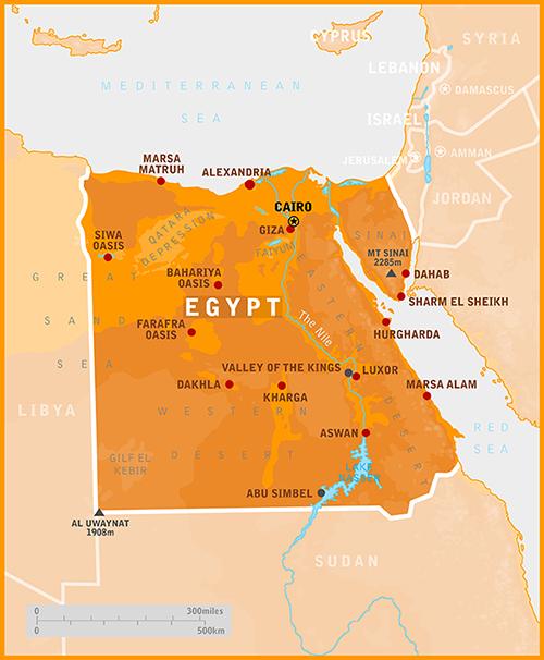Egypt Our Egypt - Map of egypt eastern desert