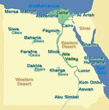 Oases Western Desert Our Egypt - Map of egypt eastern desert